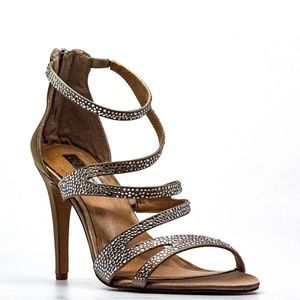 INC Regann2 Bisque Strappy Heel Sandal
